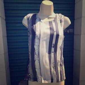maison margiela tie dye blouse small grey